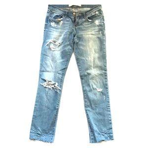 Abercrombie Skinny Jeans with Fray Hem